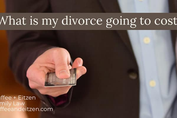 What is my divorce going to cost? on www.duffeeandeitzen.com blog
