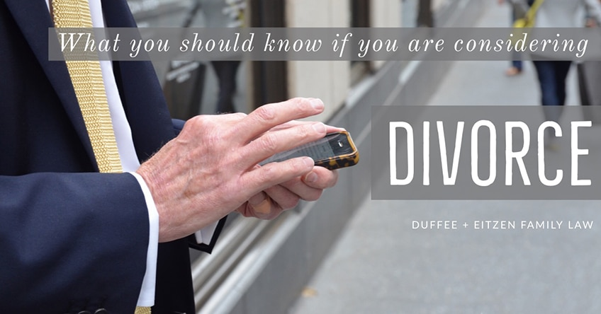 what you should know if you are considering divorce, on www.duffeeandeitzen.com blog