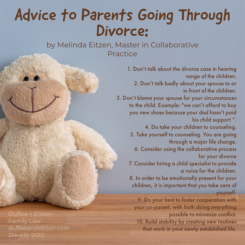 If you are a parent, here are some things that you should and should not do when going through a divorce, for the sake of the children.