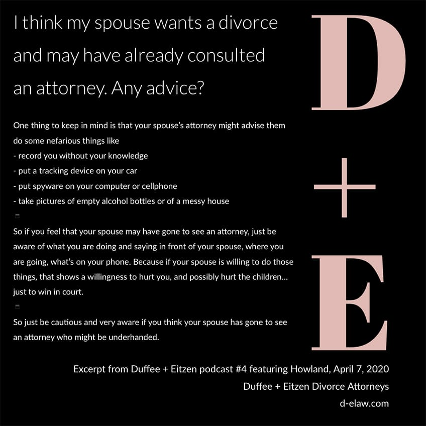 Your #divorce questions answered on the Duffee + Eitzen podcast https://www.duffeeandeitzen.com/podcast/