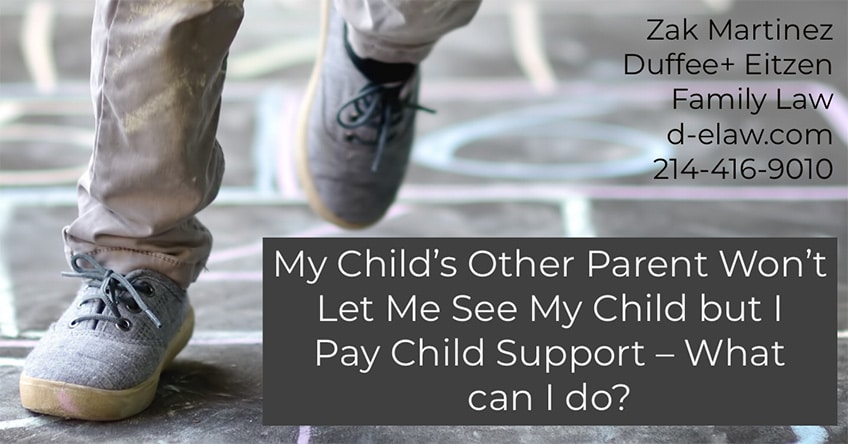 Child support issues, addressed on the Duffee + Eitzen Blog d-elaw.com