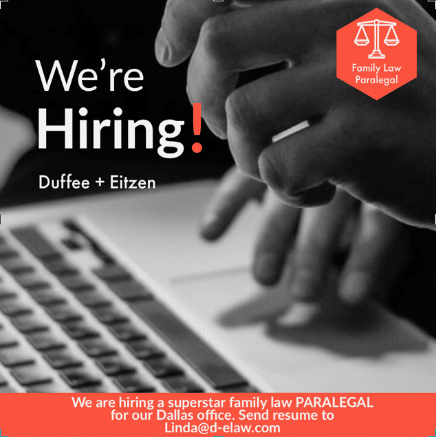 Family law paralegal job opening